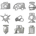 Doodle: Medical Icons Royalty Free Stock Photo - 18260635