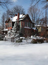 House In Winter Royalty Free Stock Photo - 18265205