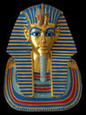 Ancient Gold Mask Of The Egyptian Pharaoh Royalty Free Stock Photos - 18276818