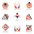 Design Elements In Warm Colors. Royalty Free Stock Image - 18288656