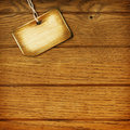 Tag On Wooden Wall Stock Photos - 18288723
