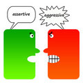 Assertive Versus Aggresive Stock Photos - 18290183