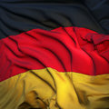 Flag Of Germany, Fluttering Stock Image - 18300461