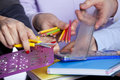 Hands Holding Education Objects Stock Photo - 18304560