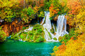 Waterfall In Autumn Forest Stock Image - 18310071