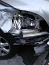 Crushed By Accident Front Headlight Of A Car Royalty Free Stock Image - 18316906