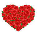 Heart From Roses Royalty Free Stock Images - 18333469