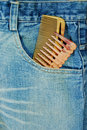 Hairdresser Jean With Two Comb Royalty Free Stock Images - 18338029