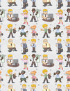Seamless Worker Pattern Royalty Free Stock Image - 18342896