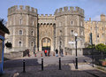 Entrance To Windsor Castle In England Royalty Free Stock Photos - 18376458
