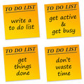 To Do List Royalty Free Stock Photo - 18385275