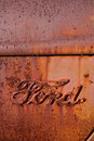 Rusty Antique Ford Truck Logo Royalty Free Stock Photo - 18388675