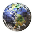 3D Wire Frame Earth Sphere Stock Image - 18389701