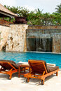 Tropical Swimming Pool Royalty Free Stock Photography - 18398777
