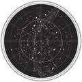 Celestial Map Of The Night Sky Royalty Free Stock Image - 18402996