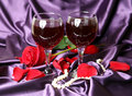 Wine And Rose Stock Images - 18403594