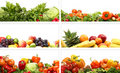 A Collage Of Fresh And Tasty Fruits And Vegetables Stock Photography - 18408052