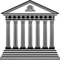 Greek Temple Stencil Second Variant Royalty Free Stock Image - 18464106