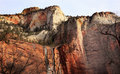 Temple Sinawava Red Rock Wall Zion Canyon Utah Stock Photo - 18481510