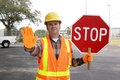 Construction Worker Stop Royalty Free Stock Photo - 1854925