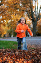 Jumping In The Leaves Stock Photo - 1855260