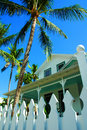 Picket Fence And Palm Trees Stock Images - 1857924