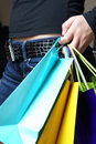 Girl With Shopping Bags Royalty Free Stock Image - 18502196