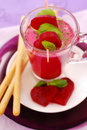 Beet Soup With Cream And Grissini Stock Photography - 18524522