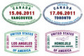 Passport Stamps Royalty Free Stock Images - 18531549