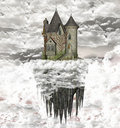 Castle Over The Clouds Royalty Free Stock Image - 18545176