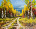Oil Painting - Gold Autumn Stock Image - 18549311