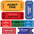 Tickets In Different Styles Stock Photography - 18554462