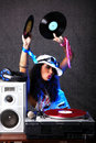 Cool DJ In Action Royalty Free Stock Image - 18566026