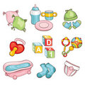 Set Of Baby Things Stock Images - 18570214