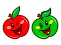 Red And Green Apple Character Stock Photos - 18590933