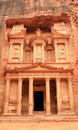 The Treasury At Petra, Lost Rock City Of Jordan. Stock Images - 18601144