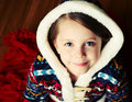 Little Girl With Hooded Sweater Stock Photography - 18612412