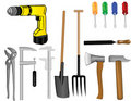 Vector A Tooling A Drill Royalty Free Stock Photo - 18612775