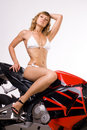 Sexy Girl On Motorbike Stock Photography - 18632072
