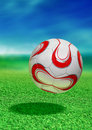 Soccer Ball With Path Royalty Free Stock Image - 18656686