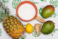 Ingredients For Mango And Pineapple Jam Stock Image - 18658281