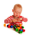 Little Boy Playing With Beads Stock Photos - 18677273