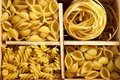 Set Of Four Varieties Of Pasta Royalty Free Stock Photo - 18680775