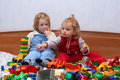 Playing With Cube Blocks Royalty Free Stock Image - 1873426