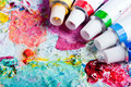 Color Palette With Different Color Tubes Stock Images - 18700484