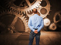 Vintage Gear And Man Stock Images - 18720494