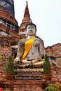 Ruined Old Temple Of Ayutthaya, Thailand, Stock Image - 18727521