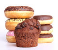Chocolate Muffin And Donuts Stock Photography - 18727782