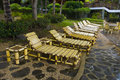 Beach Chairs In A Tropical Resort Royalty Free Stock Images - 18729119