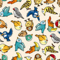 Seamless Bird Pattern Royalty Free Stock Image - 18732646